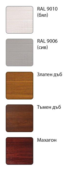 гаражна секционна врата - текстура на панелите