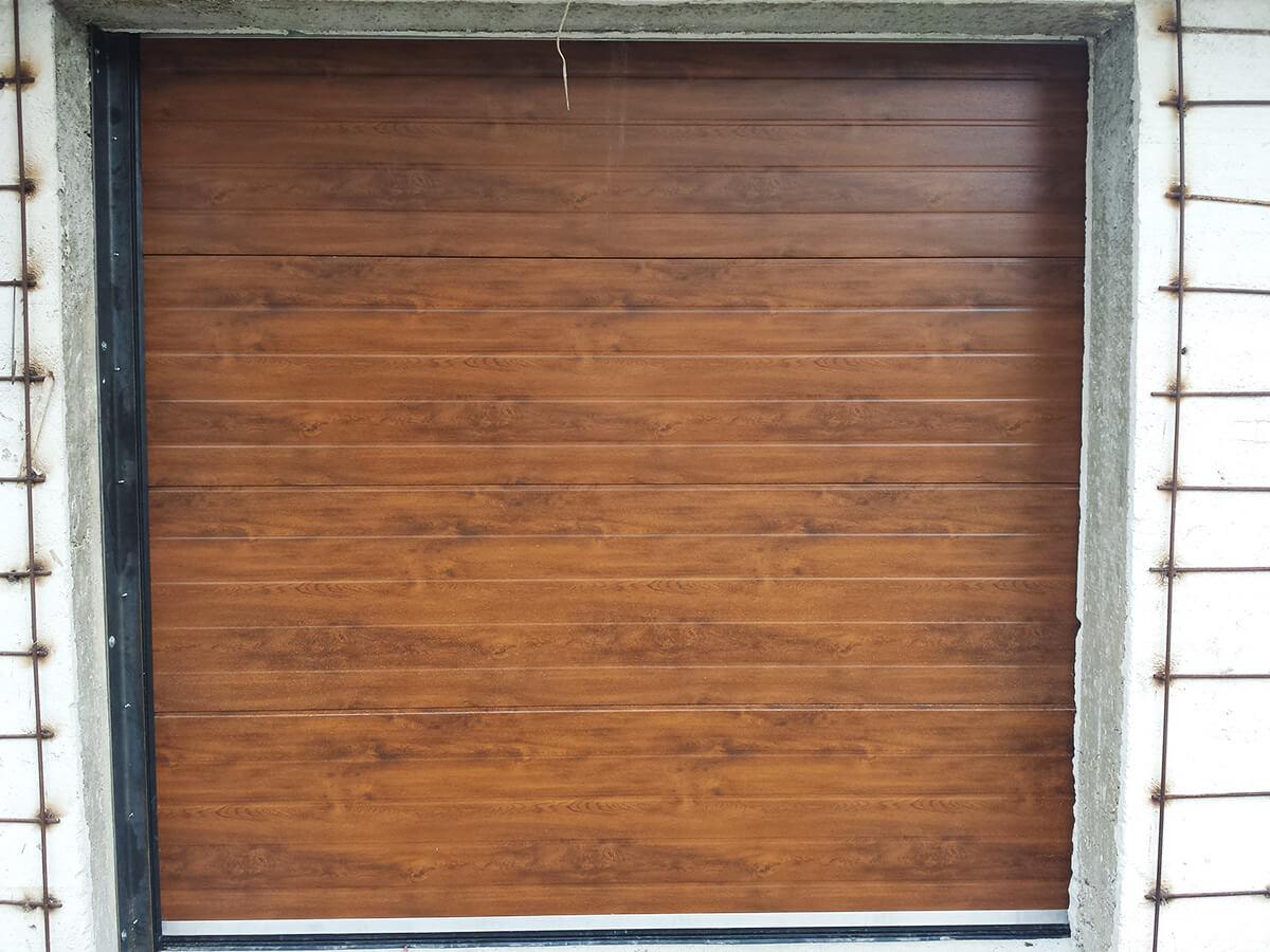 """Стара Загора - Гаражни секционни врати в дървесен цвят """"златен дъб""""_006"""